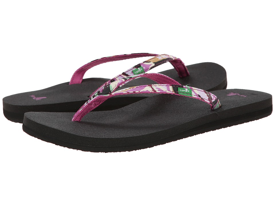 Sanuk - Yoga Joy Funk (Berry Multi) Women's Sandals