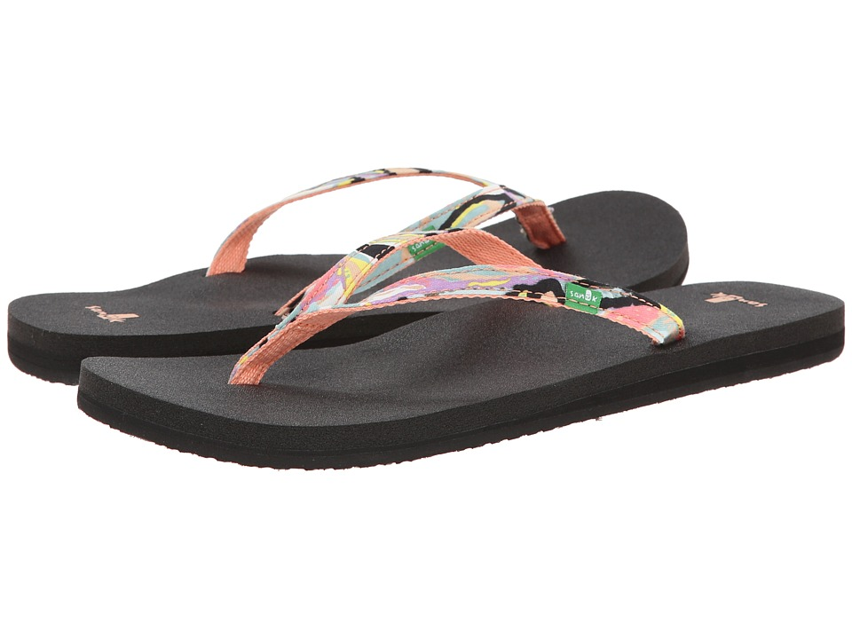 Sanuk - Yoga Joy Funk (Peach Multi) Women