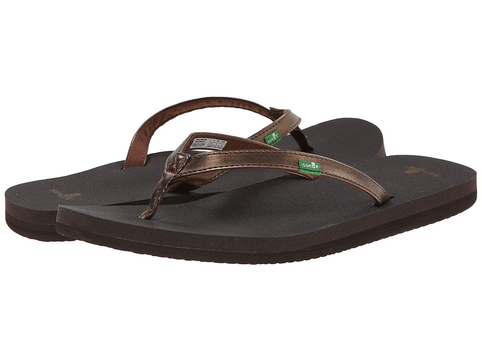 Sanuk - Yoga Joy Metallic (Bronze) Women's Sandals