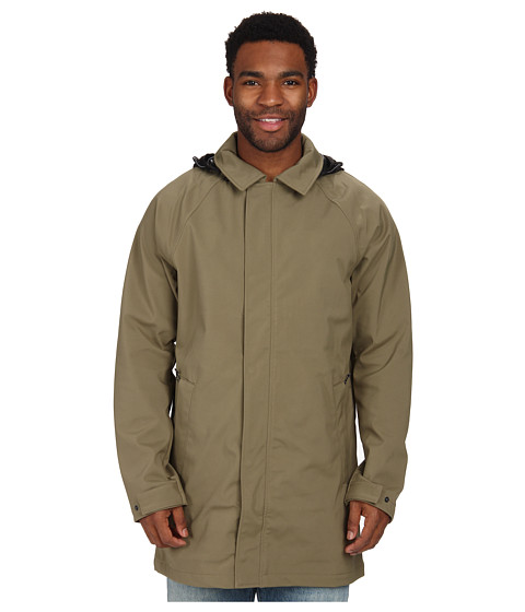 The North Face - MacArthur Soft Shell Trench (Burnt Olive Green) Men