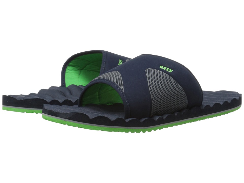 Reef - Swellular Slide (Navy/Green) Men