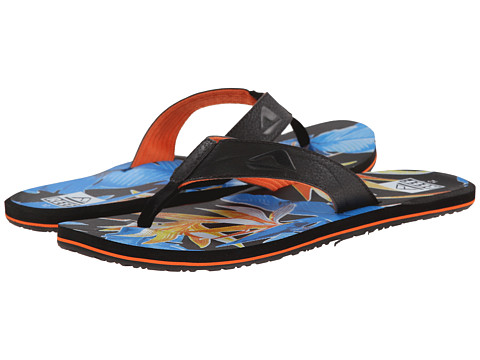 Reef - HT Prints (Black Paradise) Men's Sandals