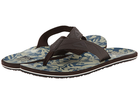 Reef - HT Prints (Taupe/Blue Floral) Men's Sandals