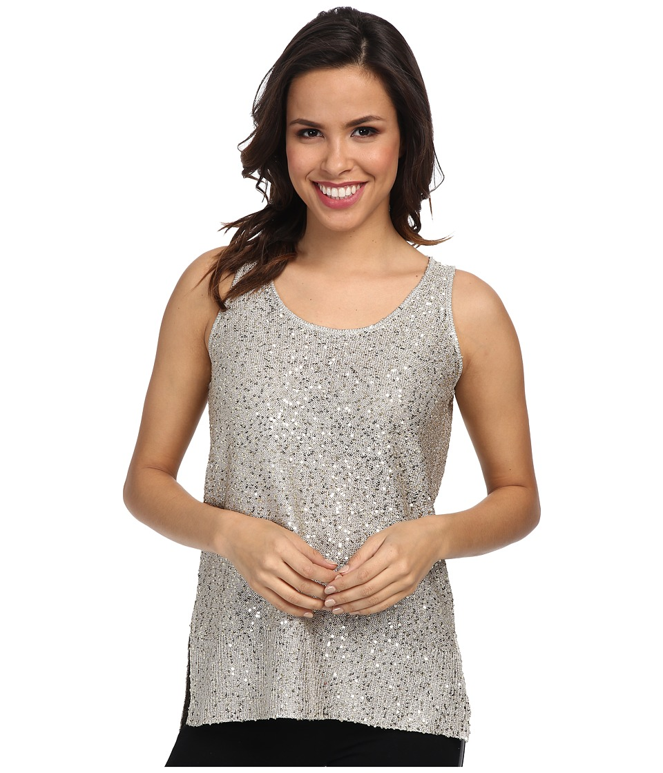 DKNYC - Stepped Hem Tank (Soft Pearl) Women