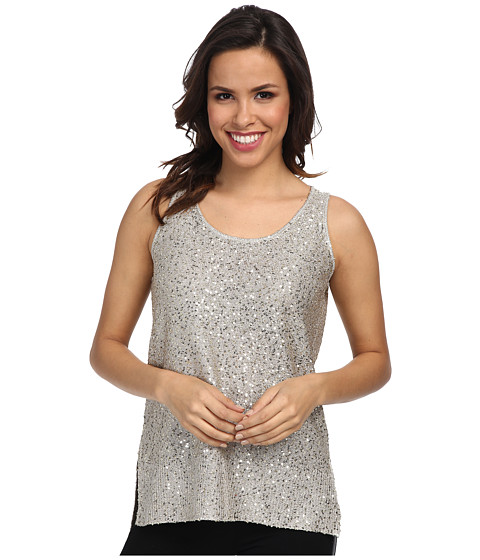 DKNYC - Stepped Hem Tank (Soft Pearl) Women's Sleeveless