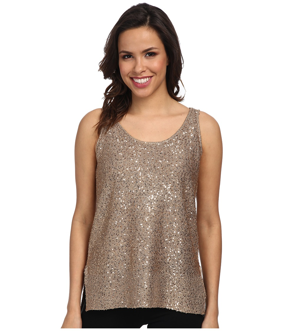 DKNYC - Stepped Hem Tank (Dark Gold) Women's Sleeveless