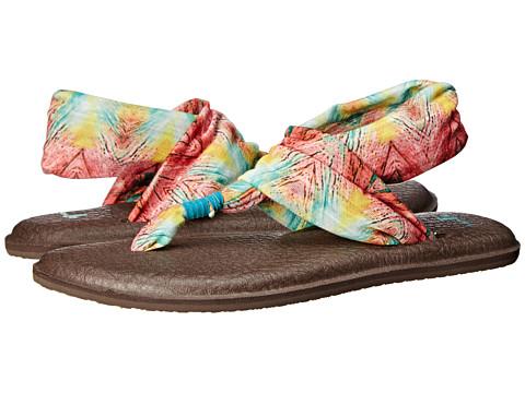 Sanuk - Yoga Sling 2 Prints (Teal/Multi) Women's Sandals