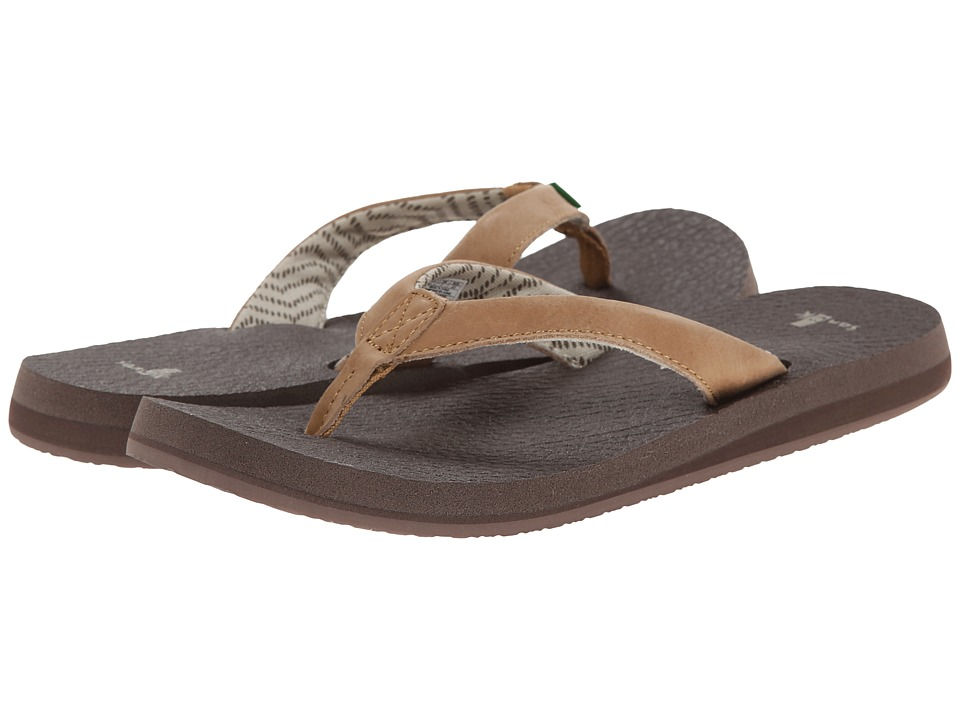 Sanuk - Yoga Mat Primo (Tan) Women's Sandals