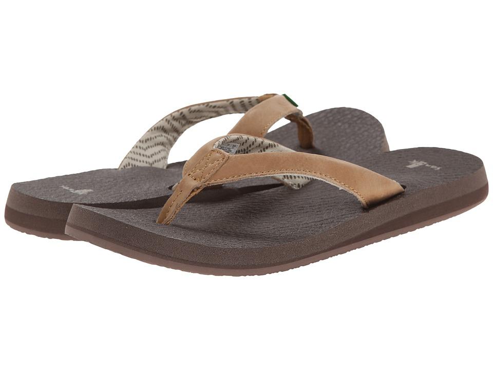 Sanuk - Yoga Mat Primo (Tan) Women's Sandals