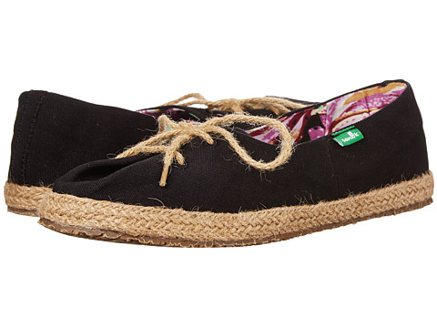 Sanuk - Mochi (Black) Women's Slip on Shoes