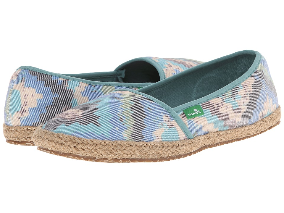 Sanuk - Mya (Blue/Multi) Women's Slip on Shoes