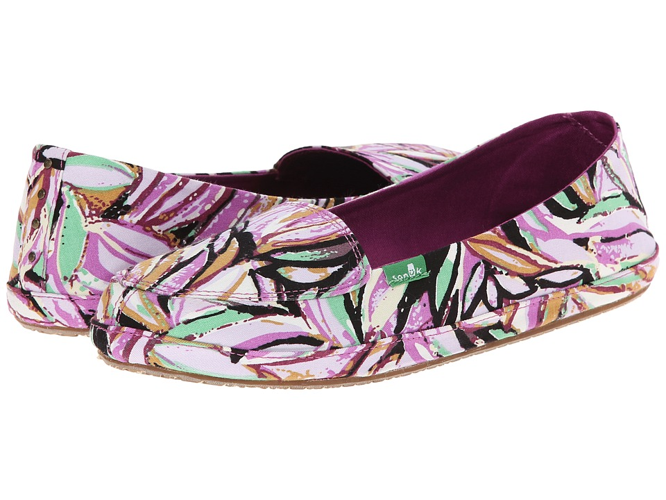 Sanuk - Palmtastic (Berry/Multi) Women