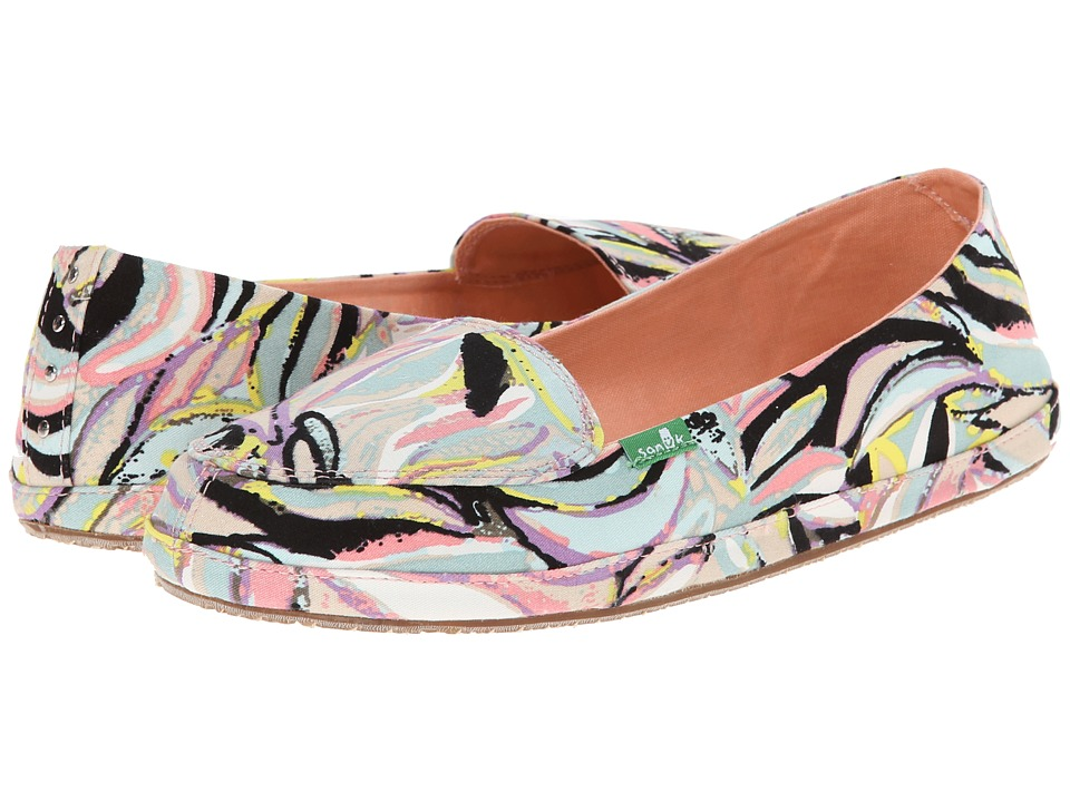 Sanuk - Palmtastic (Peach/Multi) Women