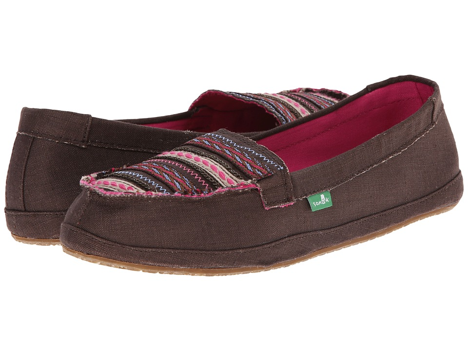 Sanuk - Zu Zu (Brown) Women's Slip on Shoes