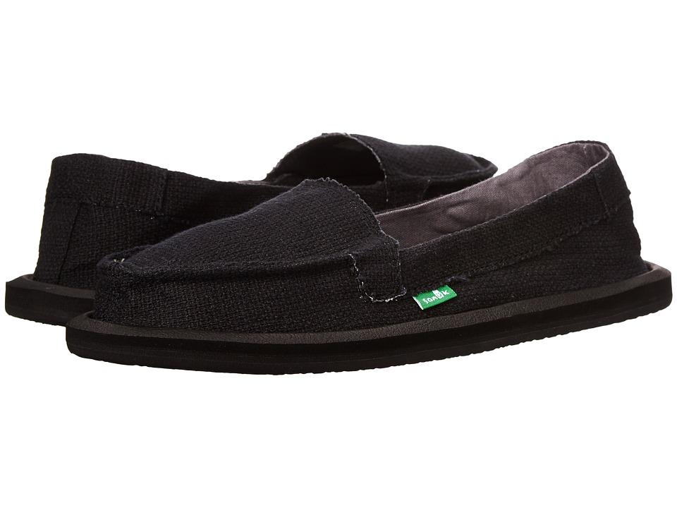 Sanuk - Misty (Black) Women's Slip on Shoes