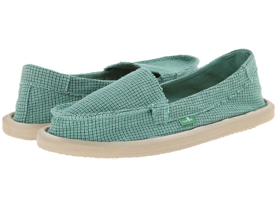 Sanuk - Misty (Teal) Women's Slip on Shoes
