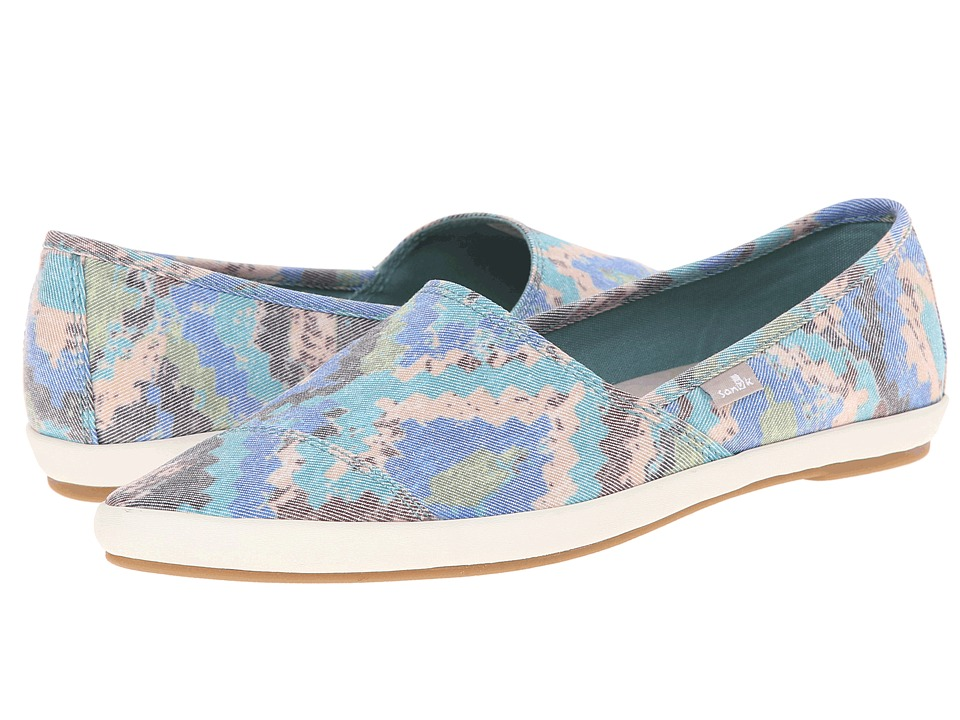 Sanuk - Kats Meow Prints (Brown/Multi) Women's Slip on Shoes