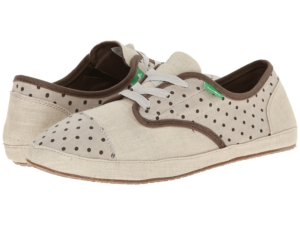 Sanuk - Sock Hop (Natural/Brown Dots) Women