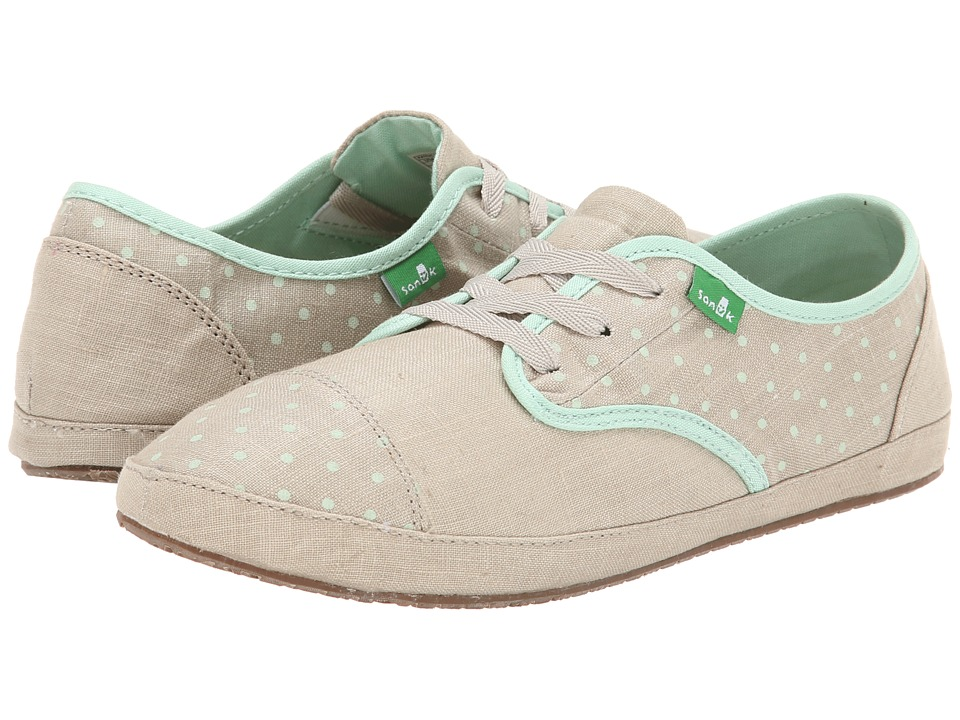 Sanuk - Sock Hop (Natural/Mint Dots) Women