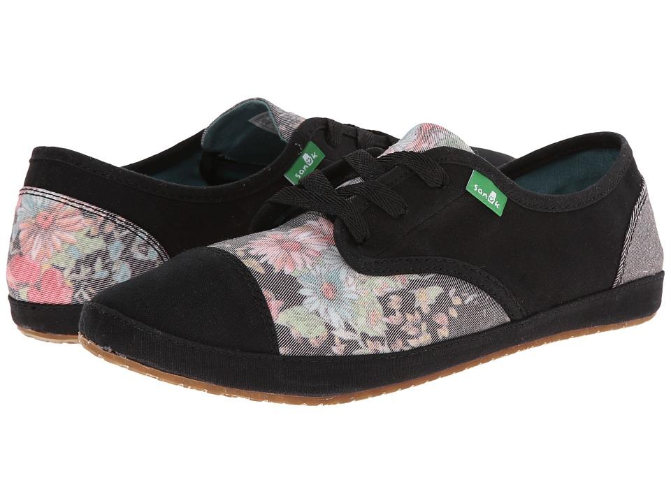 Sanuk - Sock Hop Gardenia (Black/Floral) Women