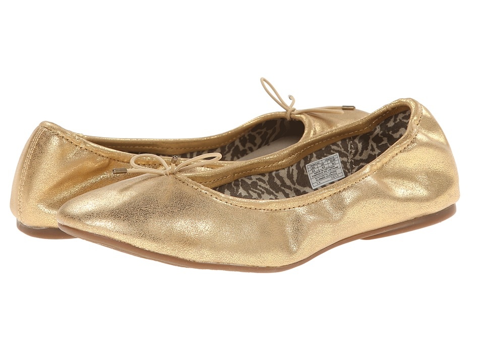 Sanuk - Yoga Ballet (Gold) Women's Flat Shoes