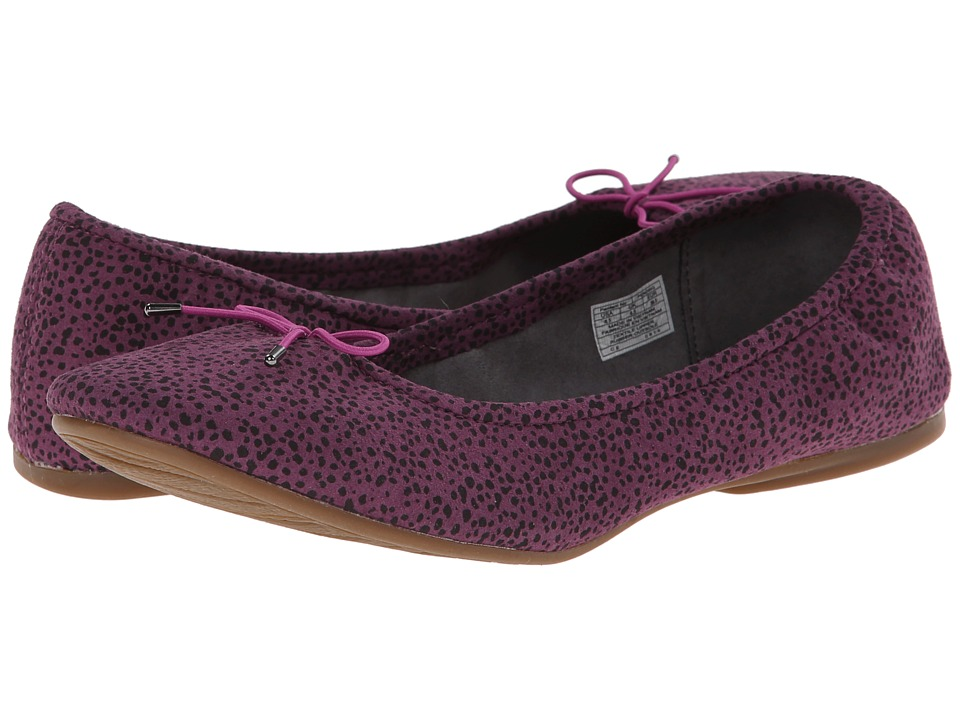 Sanuk - Yoga Prima (Berry/Animal Dot) Women's Flat Shoes