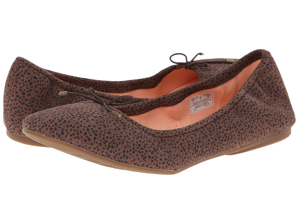 Sanuk - Yoga Prima (Brown/Animal Dot) Women's Flat Shoes