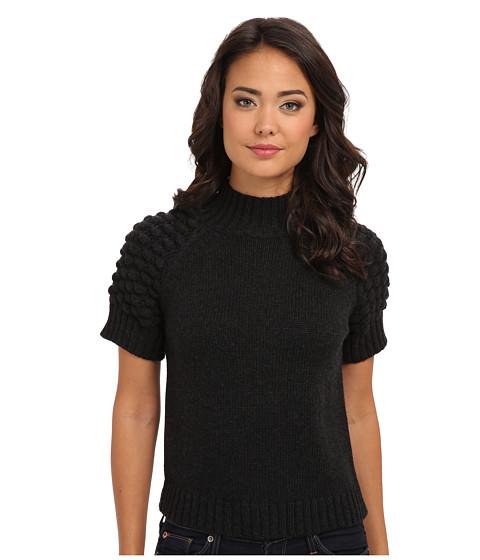 525 america - Bobbie Stitch S/S Mock (Dark Grey) Women's Sweater