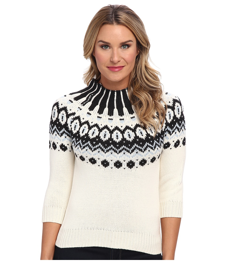 525 america - Crop Fairisle Yoke (Ivory Combo) Women's Sweater