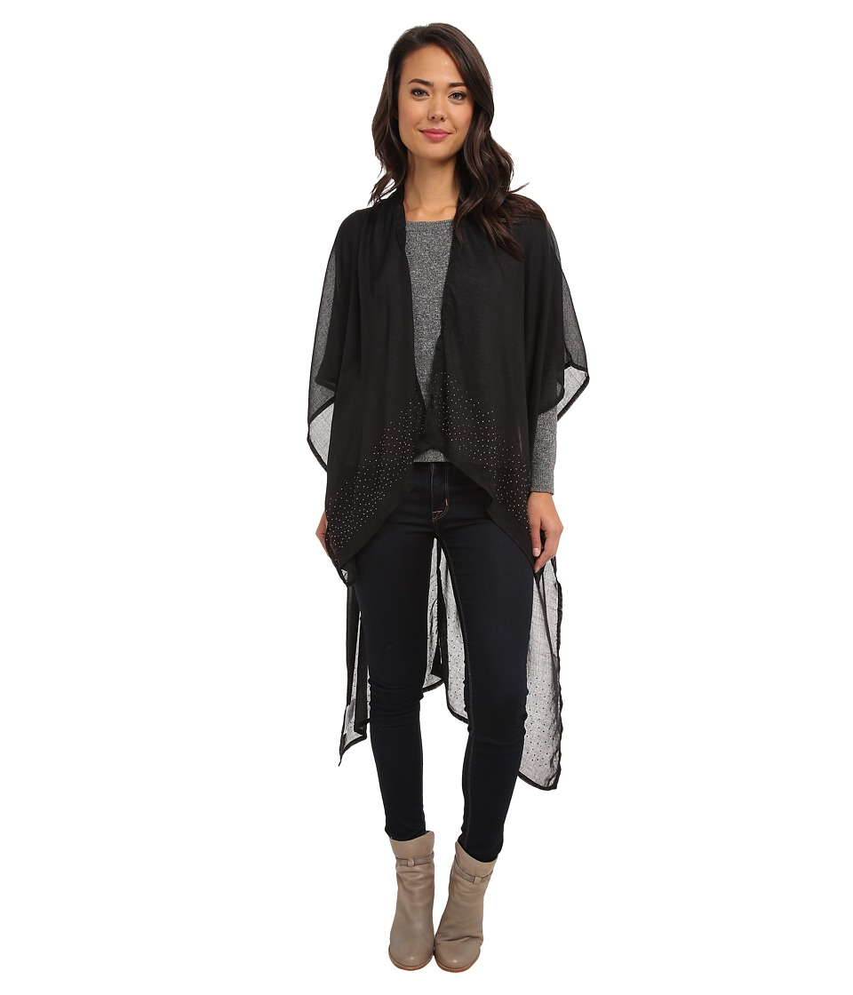 BCBGeneration - Poncho Gunmetal Studs (Black) Women's Coat
