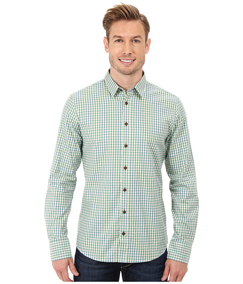 Moods of Norway - Slim Fit Alex Vik Shirt 143166 (Dark Green) Men's Long Sleeve Button Up