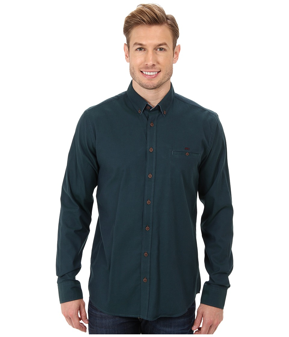 Moods of Norway - Regular Fit Anders Vik Shirt 143174 (Dark Green) Men's Long Sleeve Button Up