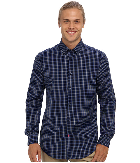 Moods of Norway - Kristian Vik Shirt 143347 (Evening Blue) Men's Long Sleeve Button Up