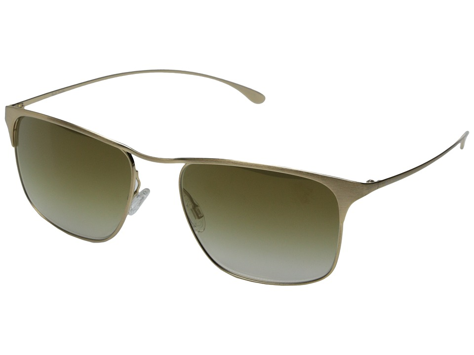Paul Smith - Lanyon - Size 55 (Brushed Gold/Bronze Flash Mirror) Fashion Sunglasses