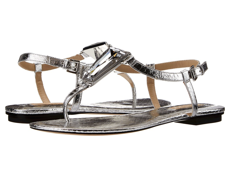 Michael Kors - Hanne (Silver Palladium Metallic Genuine Snake) Women's Sandals