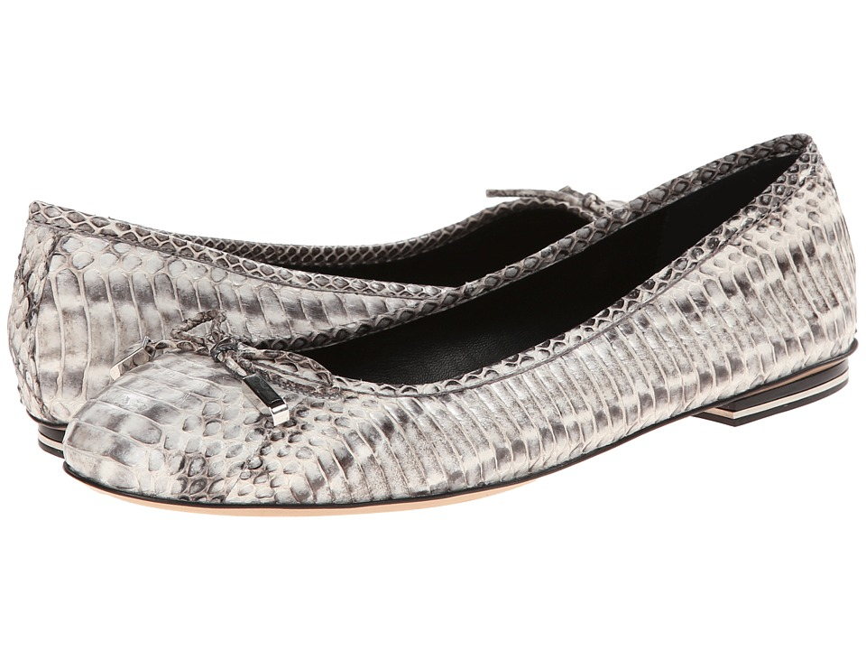 Michael Kors - Odette (Natural Palladium Genuine Snake) Women's Flat Shoes
