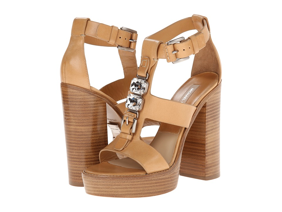 Michael Kors - Jaden Runway (Peanut Dull Silver Vachetta) High Heels