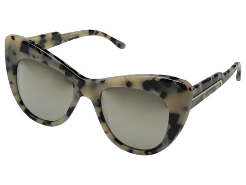 Stella McCartney - SM4049 (Grey Spotty Tortoise/Light Brown Gold Mirror) Fashion Sunglasses