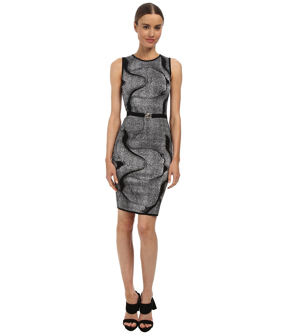 Versace Collection - Graphic Print Knit Dress (Nero) Women's Dress