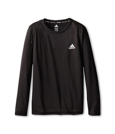 adidas Kids - Climalite Long-Sleeve Tee (Little Kids/Big Kids) (Black) Boy's T Shirt