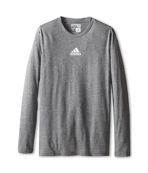 adidas Kids - Ultimate L/S Tee (Little Kids/Big Kids) (Dark Grey Heather) Boy's T Shirt