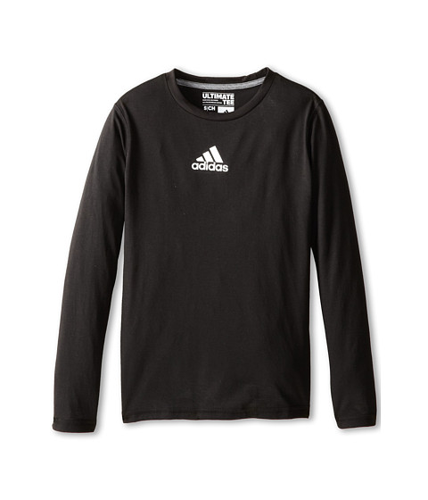 adidas Kids - Ultimate L/S Tee (Little Kids/Big Kids) (Black) Boy