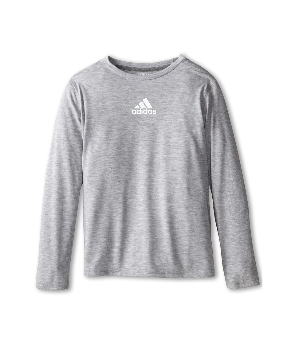adidas Kids - Ultimate L/S Tee (Little Kids/Big Kids) (Medium Grey Heather) Boy's T Shirt
