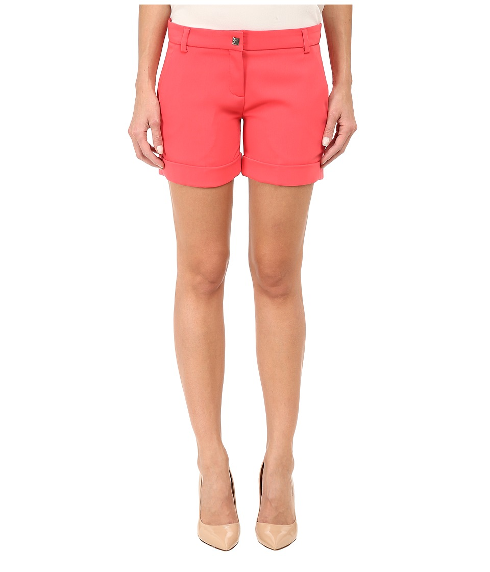 Versace Collection - Studded Button Shorts (Coral) Women's Shorts