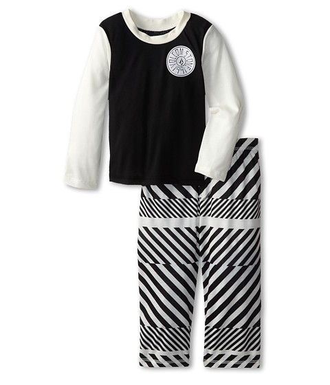 Volcom Kids - Striped PJ Set (Toddler/Little Kids) (Black) Boy