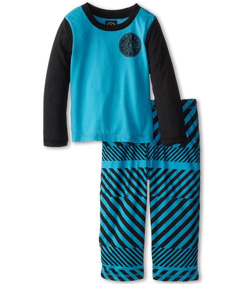 Volcom Kids - Striped PJ Set (Toddler/Little Kids) (Atlantic) Boy's Pajama Sets