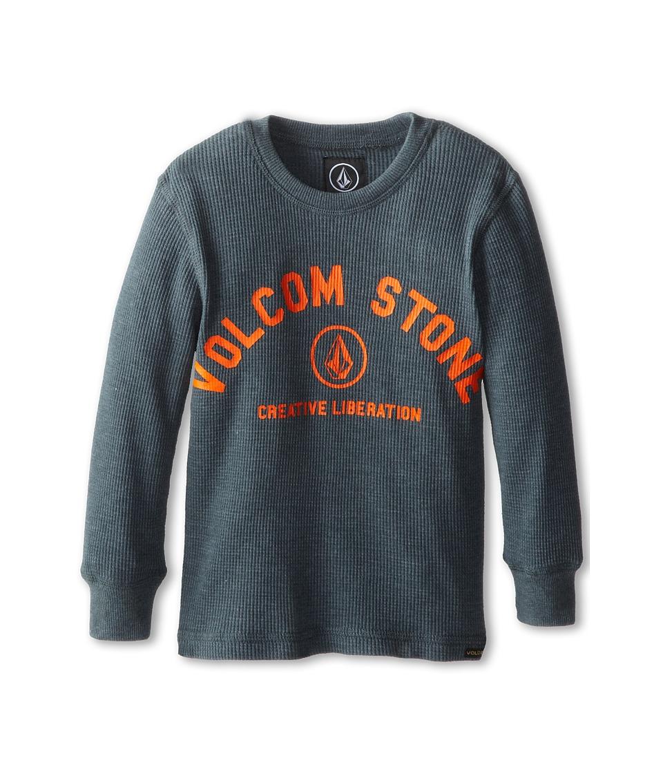 Volcom Kids - Street Side Thermal (Toddler/Little Kids) (Dust Bowl Indigo) Boy's Long Sleeve Pullover