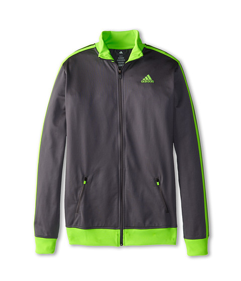 adidas Kids - Separates Training Track Jacket (Big Kids) (Granit/Slime Green) Boy