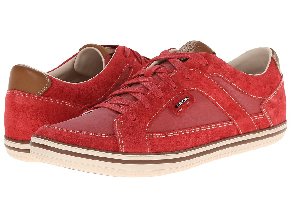 Geox U Box 10 (Low Top) (Dark Red) Men