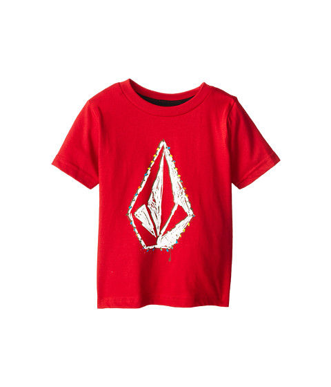 Volcom Kids - Lit Up S/S Tee (Toddler/Little Kids) (Burgundy) Boy
